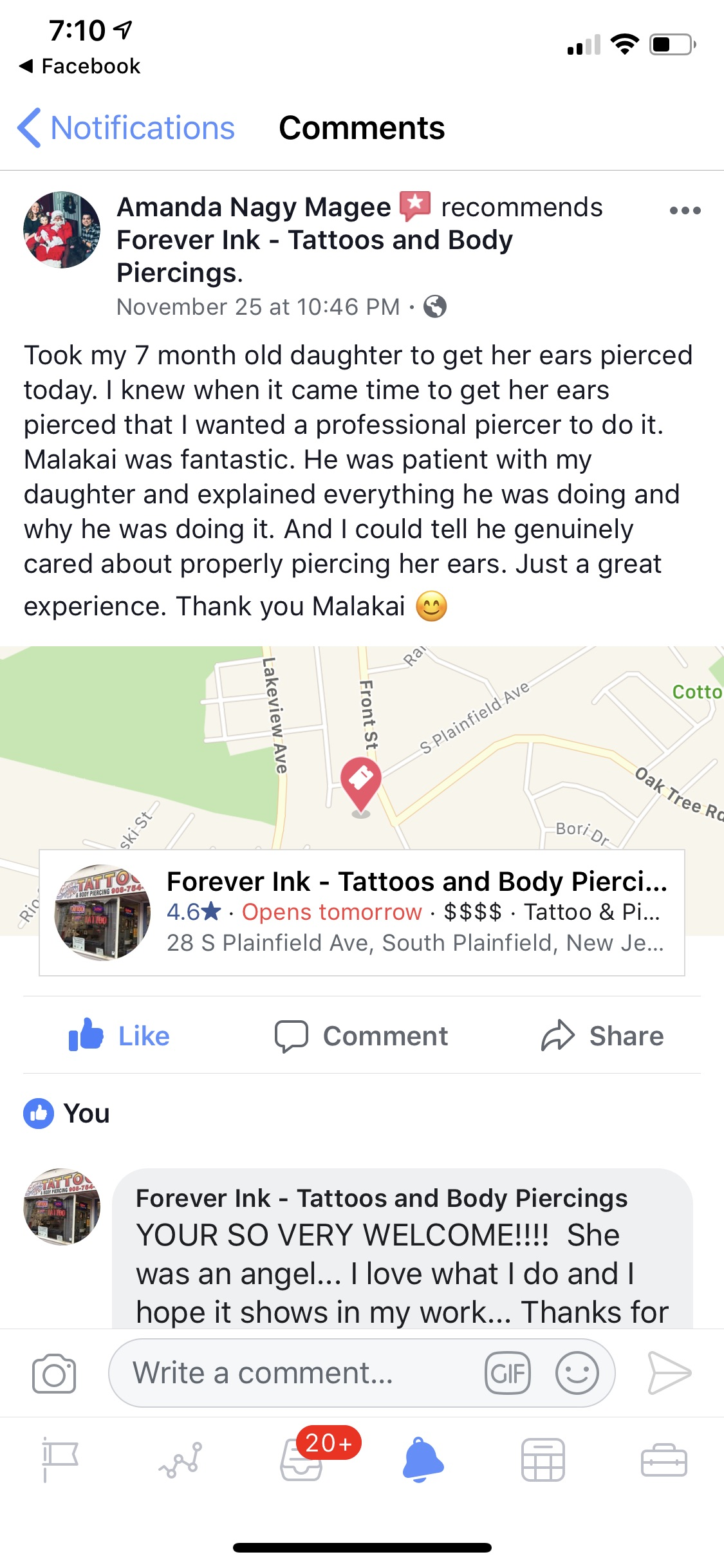 Infant & Child Piercings - Forever Inksanity - Tattoos & Body Piercings